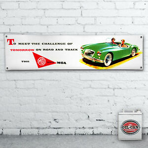 MGA-advert-Banner-heavy-duty-for-workshop-garage-man-cave-retro-mg-classic