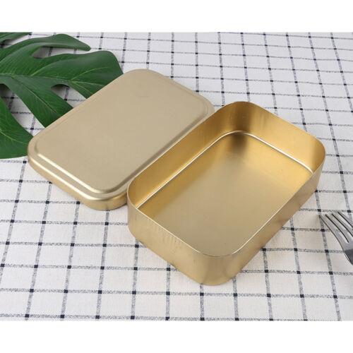 Korean Style couche simple aluminium Bento Food Lunch réutilisables Snacks Box