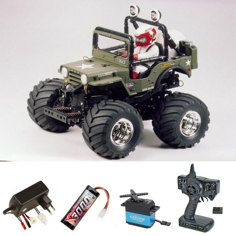 TAMIYA Wild Willy 2000  wr-02  2wd 1:10 Wheely Car set completo  300058242set