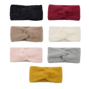 Winter-Imitation-Mink-Cashmere-Headband-Cross-Knot-Fluffy-Bow-Hairband-Headwrap