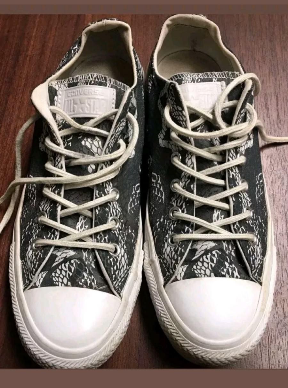 Converse All Star Gris Unisexe Garçons Filles Chaussures Baskets Baskets Chaussures Taille 5 UK ba1622
