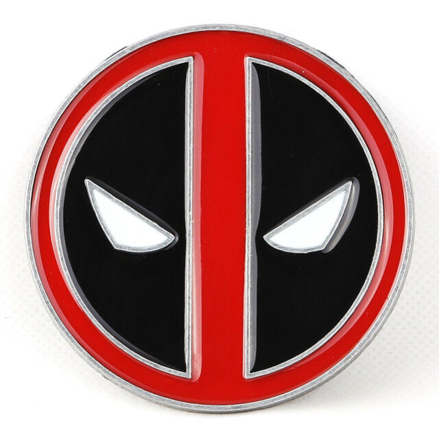 Deadpool X Men Wade Wilson Belt Buckle Xmen Marvel Red Black Enamel