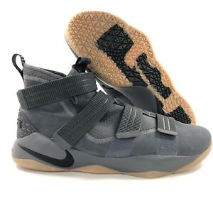 8b3c1f26b186 Nike Lebron Soldier XI 11 SFG Dark Grey Black Gum Sole 897646-003 ...