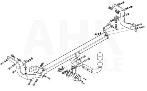 Für Peugeot 2008 ab 12 Anhängerkupplung starr+ES 13p spez AHK Kpl.