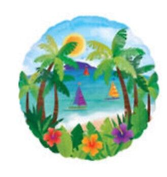 "Tropical Balloons 18/"" Hawaii Luau Summer Island Beach Pool Foil Party Balloons"