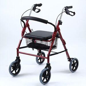 SKIIDDII-Foldable-Aluminium-Rollator-Walking-Frame-Mobility-Walker-Aids