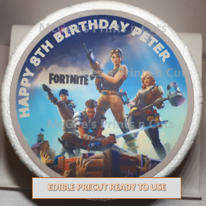 7 Fortnite Inspired Themed Printed Personalised Edible Cake Topper Decoration