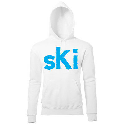 LARGE SKI PRINT WOMENS WINTER SKI SNOWBOARD SEASON SLOGAN SWEATSHIRT JUMPER