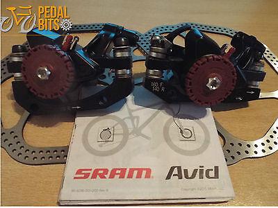 SRAM Avid BB5 Mountain Bike Mechanical Disc Brake Front//Rear Caliper HS1 Rotors