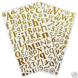 Planche 170 Alphabet Lettre Paillette Dore Or Scrapbooking Scrap