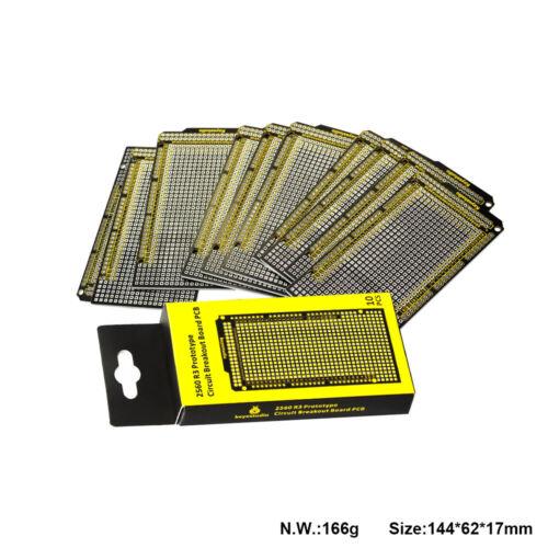 10 Stk Lochrasterplatine Leiterplatte Breadboard Starter Kit für Arduino Zubehör