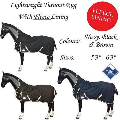Fleece Lined Horse Pony Cob Turnout Rug
