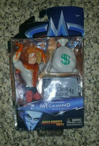 COLLECTABLE DREAMWORKS MEGAMIND SUPER CHARGED TIGHTEN ACTION FIGURE BRAND NEW