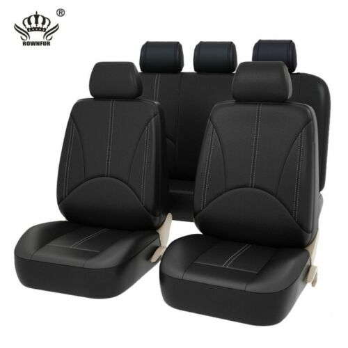 PU Leather Deluxe Car Cover 2 front Seat Protector Cushion Black Cover Universal