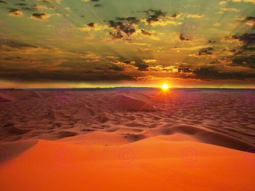 PHOTOGRAPH LANDSCAPE SUNSET SAHARA DESERT DUNES SAND ART PRINT POSTER MP5619A