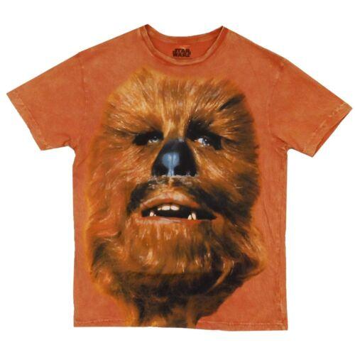 Star Wars Biggie Chewey Chewbacca Mineral Wash Licensed Adult T Shirt