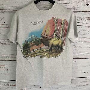 Vtg-New-Castle-Colorado-Shirt-sz-L-Earth-Zone-Mitchell-Moore-1993-Single-Stitch