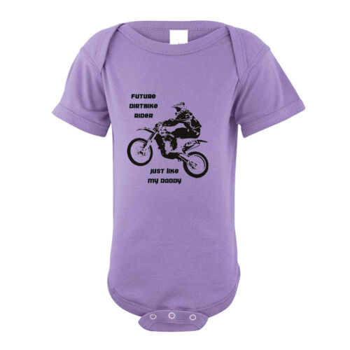 Future Dirt Bike Rider Just Like My Daddy Infant Toddler Baby Bodysuit One Piec