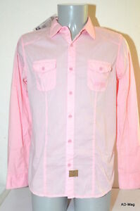 Chemise-manches-longues-Homme-KAPORAL-MOBYE14M4-Rose-Taille-M-XL-NEUF