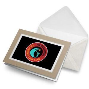 Greetings-Card-Biege-California-Professional-Surf-Club-Surfing-5506