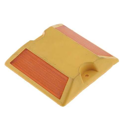 10x NEW Commercial Road Highway Pavement Marker Reflector Two Side Yellow