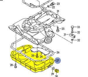 AUDI A4 A6 80/90 1994-98 V6 2.8 LOWER ENGINE OIL PAN 078103604H | eBayeBay