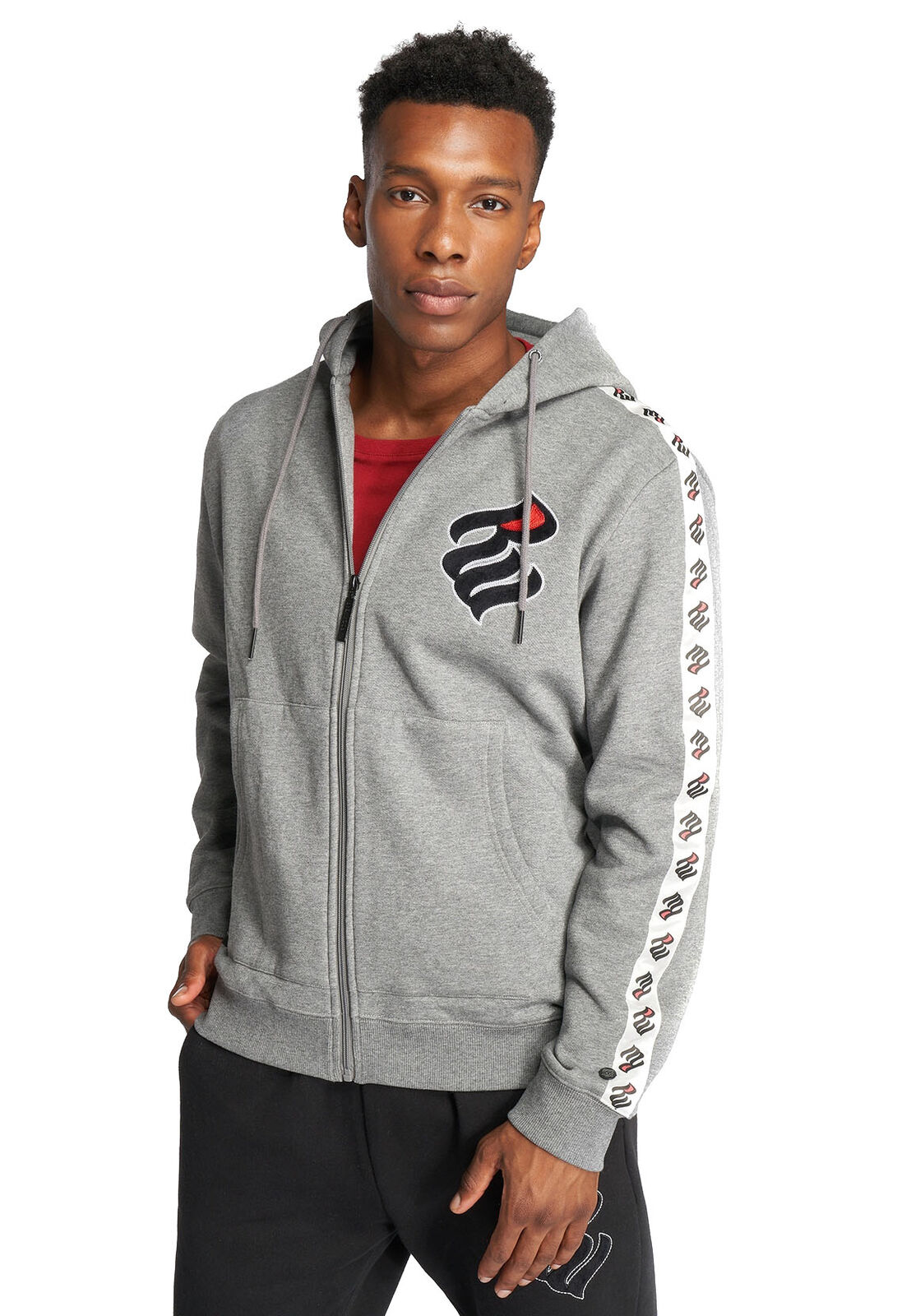 Rocawear Zipper Herren STRIPE RWZH005GM Grau Grau Melange