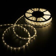 50FT LED Rope Light 2-Wire Outdoor Home Party Stripe Lighting Warm White