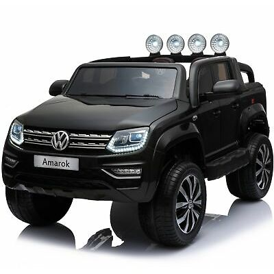 VW Amarok Licensed 4WD 24V Children's Battery Operated Ride On Jeep - Black
