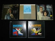 Lot of 5, 7 1/2 IPS Reel to Reel's Switched Off Bach, Wozzeck, Haydn, Ect.