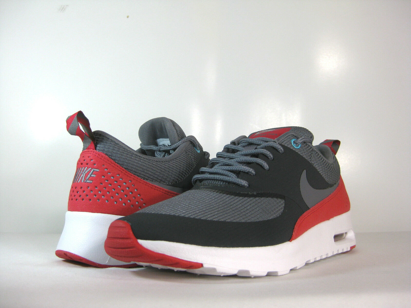 NIKE WMNS AIR MAX THEA Anthracite/Cool Grey-Lgn Red -599409 009- ATHLETIC Wild casual shoes