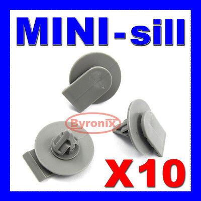 MINI COOPER SIDE SKIRT SILL FASTENER PLASTIC CLIPS x10 BLACK NEW