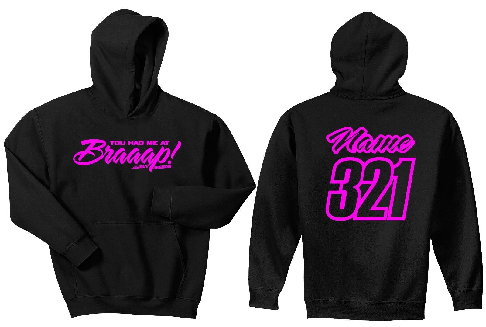 You Had Me At Braaap  Hoodie Sweat Shirt JUST RIDE Motocross Moto MX Supercross