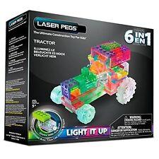 Laser Pegs, 6 En 1 Zippy Do Tracteur, Ensemble De Construction - Lights Up,
