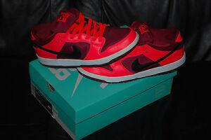 d2b351a69d66 Men s Nike SB Dunk Low Pro Laser Crimson   Team Red Shoes (10.5 ...