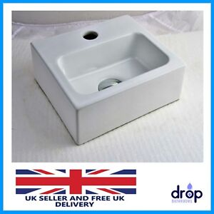 Cloakroom Compact Square Small Mini Bathroom Basin Sink Wall Hung 280 245 90mm Ebay