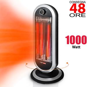Stufa Elettrica Carbonio Basso Consumo watt Oscillante Stufetta Alogena 🔥 1000w