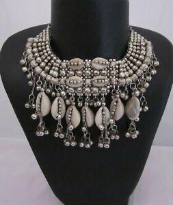 Necklace-Bib-Choker-Vintage-Boho-Gypsy-Hippie-Fashion-Jewelry