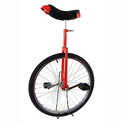 "RED BLACK 16"" 20"" 24"" 26"" INCH FUN UNICYCLE UNI CYCLE SCOOTER CIRCUS PRO BIKE"