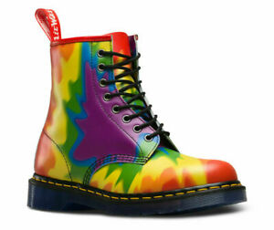 Dr Martens Tie-dye Pride 1460, Multi Pride Tye Dye Revers Uk 8/eu 42/us 10-afficher Le Titre D'origine