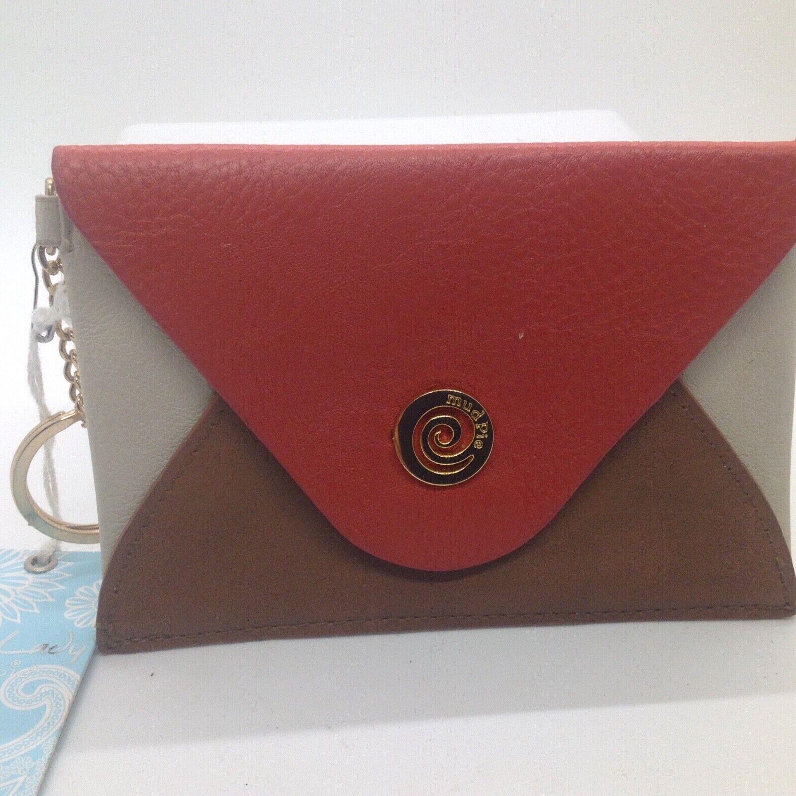 "2012 Bag Lady Mid Century Style Mudpie Envelope Keychain ID Purse 5.5 X 3.75"""