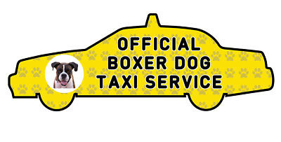BOXER OFFICIAL TAXI SERVICE  Dog Car Sticker  By Starprint