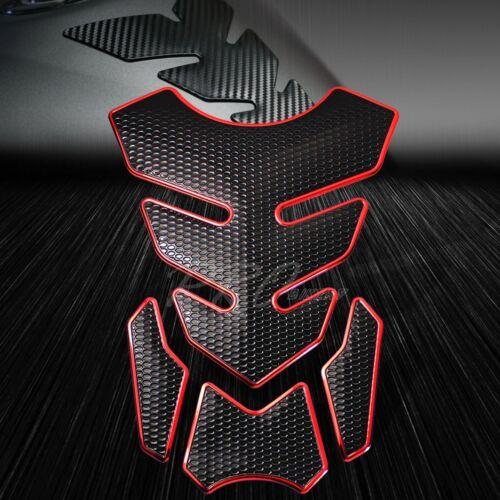 "4PC Chromed Red Gas//Fuel Tank Pad+3D 6/"" Logo/&Letter+2-Tone YZF-R6 Emblem Sticker"