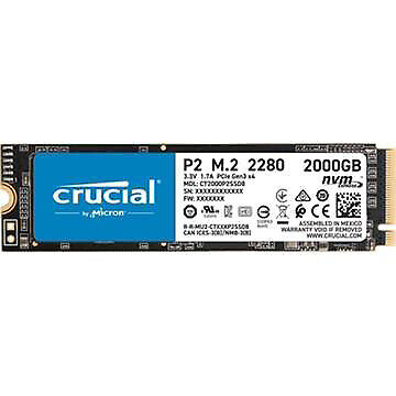 HARDDISK CRUCIAL P2 SSD 2 TB M.2
