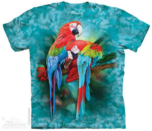 MACAW Parrot Colorful Tropical Birds T Shirt The Mountain Macaw ... a374d0da9