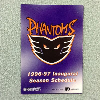 1997-98 PHILADELPHIA PHANTOMS HOCKEY POCKET SCHEDULE