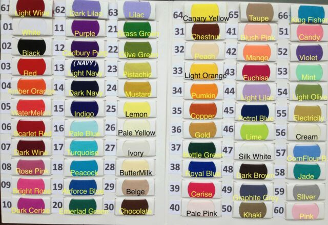 Plain Solid POLYCOTTON FABRIC 2.50 PER METRE Lowest Price on Ebay 66 colours !!!