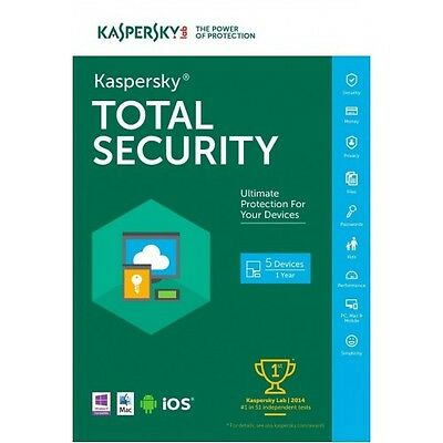 KASPERSKY PURE TOTAL SECURITY 2017 MULTIDEVICE,5PC/1Year/NO CD/SALE/NEW VERSION