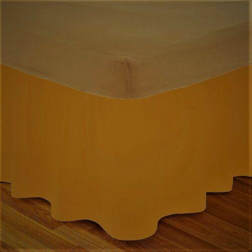 """New Luxury Plain Dyed Platform BASE VALANCE Sheet Extra Deep box 16/"""" Frill Sheet"""