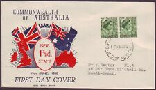 1950 1-1/2d QM ON WIDE WORLD FIRST DAY COVER ADDRESSED (RU1355)
